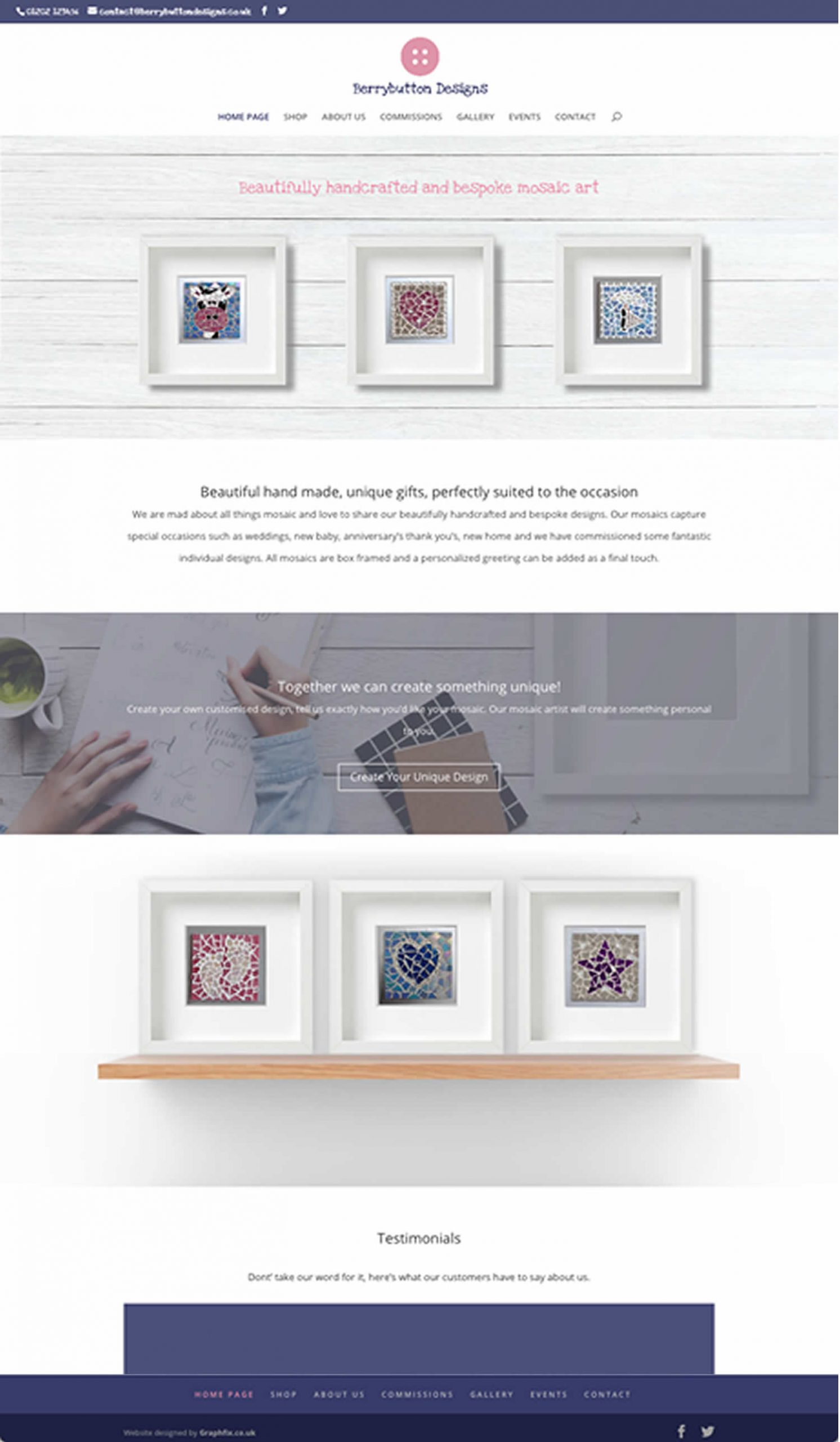 Website layout designed and created for Berrybutton Designs based in Ferndown, Dorset